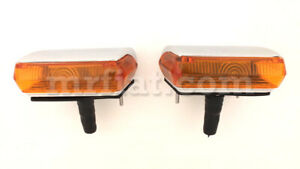Alfa Romeo 2600 Complete Carello Orange Front Light Set New