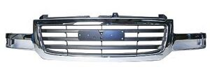Front Grille Chrome Black Gmc Sierra Wo Heavy Duty 2003 2004 2005 2006 Gm1200475