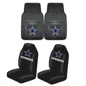 Football Dallas Cowboys Rubber Floor Mat Set Wtih Seat Covers Universal