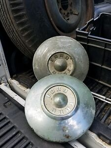 3 1957 1958 1959 Ford Hubcaps