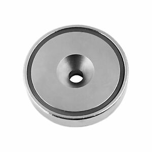 Super Strong 420 Lbs Neodymium Cup Magnet 3 Countersunk Round Base Mounting new