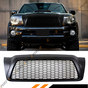 For 2005 11 Toyota Tacoma Matt Black Jdm Front Hood Honeycomb Mesh Grill Grille
