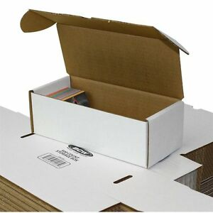 Lot Of 50 Small White Cardboard Shipping Boxes 9 X 3 7 8 X 3
