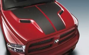 2009 2018 Dodge Ram 1500 Carbon Fiber Hood Decal Applique Emblem Oem New Mopar