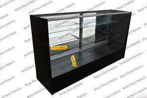 Sc6 6 Full Vision Retail Glass Display Case In Four Colors
