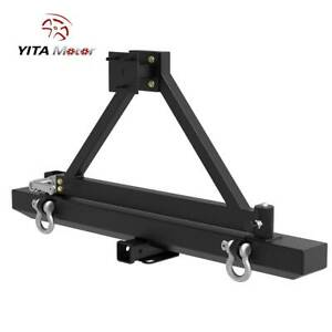 Yitamotor Rear Bumper W Tire Carrier D Ring For 1987 2006 Jeep Wrangler Tj Yj
