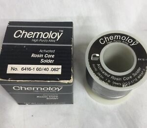 Chemtronics Chemology Solder 1 lb Roll 60 40 062 Rosin Core 6416 1 new