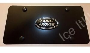 Land Rover License Plate Matte Black Heavy Duty 1mm Thick With Bolts