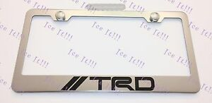 Toyota Trd Stainless Steel License Plate Frame Rust Free W Bolt Caps