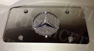 Mercedes Mirror Vanity Front License Plate Heavyduty Made With Swarovski Crystal