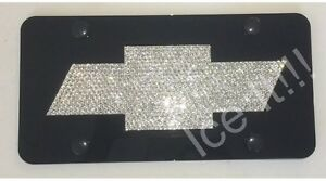 Chevy Bow Tie Chevrolet Front License Plate Frame W Swarovski Crystal