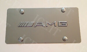 Mercedes Benz Amg Front Mirror Stainless Steel 1mm License Plate Frame W Screws