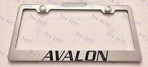 Toyota Avalon Stainless Steel License Plate Frame Rust Free W Bolt Caps