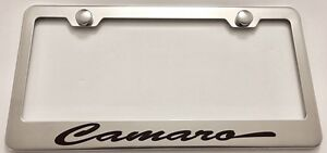 Camaro Chevy Stainless Steel License Plate Frame Rust Free W Bolt Caps
