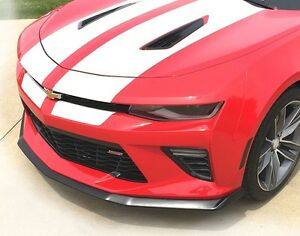 2016 2018 Camaro Ss Front Splitter W Winglets Finished In Satin Flat Black
