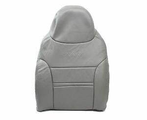 00 01 Ford Excursion Limited 4x4 Lifted Driver Lean Back Leather Seat Cover Gray