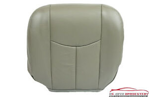 04 05 Chevy Tahoe Z71 Driver Leather Bottom Heated Power Seat Cover Pewter Gray