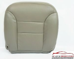 1998 1999 2000 Chevy Silverado 2500 3500 Driver Bottom Leather Seat Cover Gray