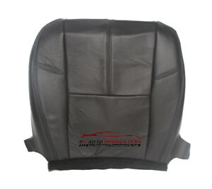 09 12 Chevy Avalanche Ltz A C Cooled Seat Driver Bottom Leather Seat Cover Blk