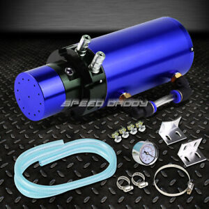 7 X2 5 Billet Aluminum Engine Oil Catch Reservoir Breather Tank Can Gauge Blue