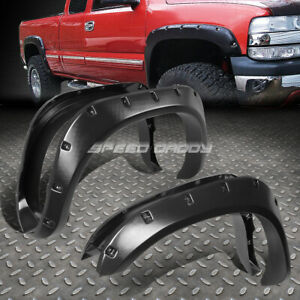 For 02 09 Dodge Ram Pickup 3 Textured Black Pocket Riveted Wheel Fender Flares