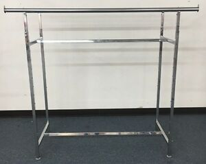 Used Euc Commercial Grade Clothing Double Bar H Rack Adjustable 48 72 Chrome