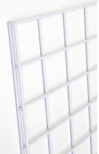 Gridwall Shelves Panel 4 X 6 Retail Rack Display Fixture White Lot Of 12 New