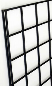 Gridwall Rack Panel 4 X 8 Store Display Fixture Black Wall Mount Lot Of 10 New