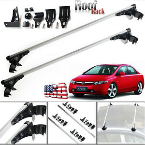 47 Car Top Luggage Cross Bar Roof Rack Carrier Skidproof For Honda Civic Accord