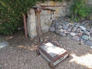 Antique Fairbanks Scale Old West Farm Ranch General Store Depot Feed Store