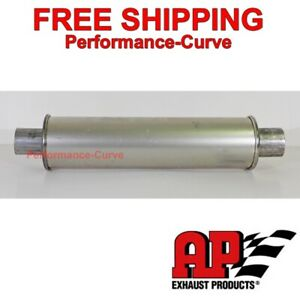 Msl Premium Muffler Resonator 2 25 4 Round 21 Long By Ap Exhaust