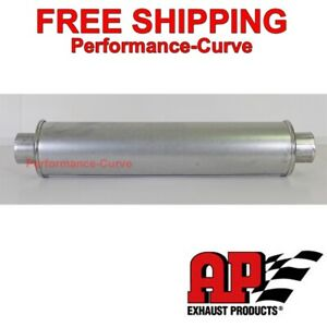 Msl Premium Muffler Resonator 2 25 4 Round 22 5 Long By Ap Exhaust