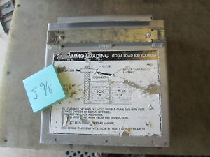 Used Alum 7.62 Belted Ammunition Storage Box for Armored Vehicle 11x11x4