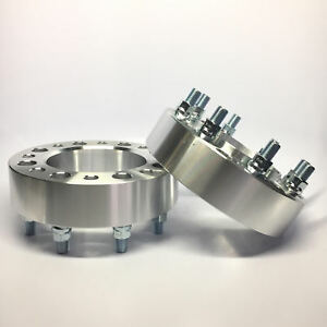 2 Hubcentric Wheel Spacers Adapters 8x6 5 8x165 1 14x1 5 2 Inch 50mm