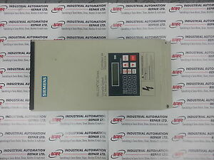 Siemens Variable Speed Ac Motor Drives Aq15005b
