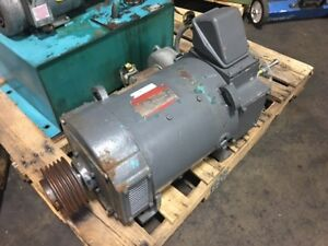 General Electric 15 Hp Dc Motor 1150 3450 Rpm 240v Type Cd259at W Blower