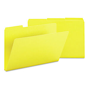 Smead Recycled Folder One Inch Expansion 1 3 Cut Top Tab Legal Yellow 25 box
