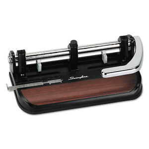 Swingline 40 sheet Heavy duty Lever Action 2 to 7 hole Punch 11 32 Hole Black