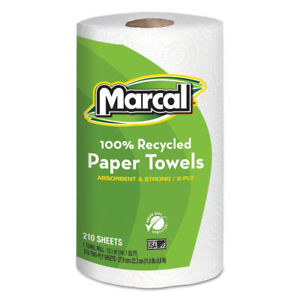 Marcal 100 Recycled Roll Towels 8 3 4 X 11 210 Sheets 12 Rolls carton 6210