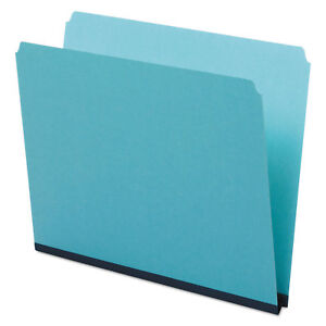 Pendaflex Pressboard Expanding File Folders Straight Cut Top Tab Letter Blue 25