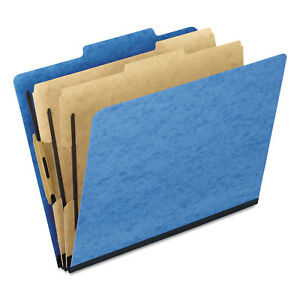 Pendaflex Six section Colored Classification Folders Letter 2 5 Tab Light Blue