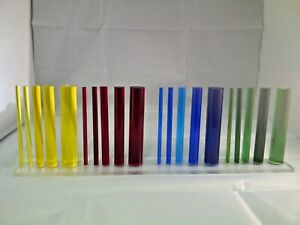 Coloured Acrylic Rod Round Tinted Perspex Circular Bar 100mm To 400mm Long