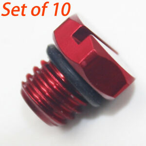 10 Pcs Fuel Filter Housing Bleeder Screw 2001 2016 Duramax Lb7 Lly Lbz Lmm Gm