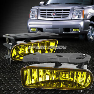 For 02 06 Cadillac Escalade Pair Oe Amber Lens Bumper Fog Light Direct Bolt On