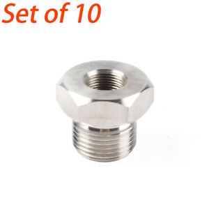 10 Pcs High Hardness 1 2 28 To 13 16 16 Unf Gray Oil Filter Threaded Adapter