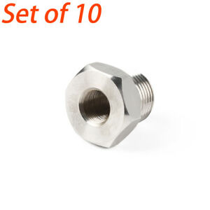 Set Of 10 High Hardness 1 2 28 To 13 16 16 Unf Oil Filter Threaded Adapter Gray