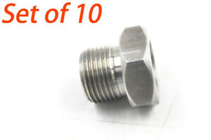 Set Of 10 High Hardness 5 8 24 To 13 16 16 Unf Oil Filter Threaded Adapter Gray