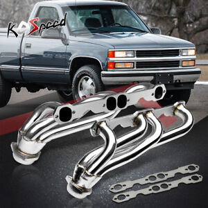 For 88 97 Chevy gmc 5 0 5 7 V8 C k Truck Stainless Steel Header Exhaust Manifold