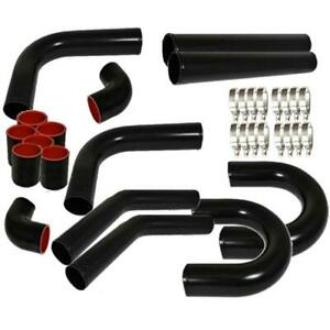 3 Inch Aluminum Intercooler Piping U Piping Coupler Black T Bolt