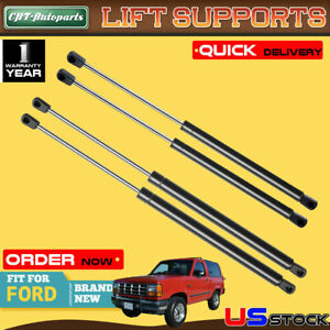 4x Rear Window tailgate Lift Supports Shock Struts Fit Ford Bronco Ii 1984 1990
